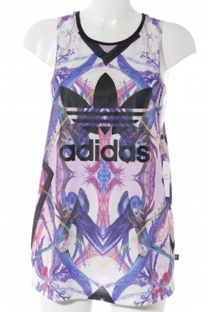 Adidas Basic Top abstrakter Druck Casual-Look