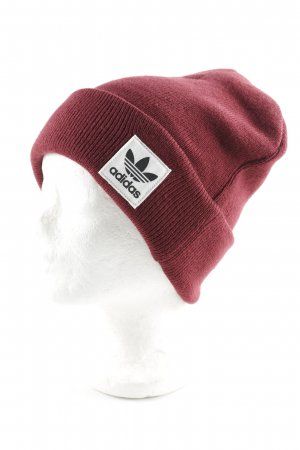 Adidas Beanie bordeauxrot Casual-Look