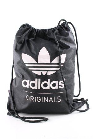 Adidas Beuteltasche schwarz Schriftzug gedruckt Casual-Look