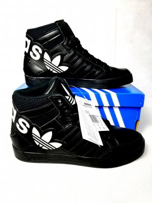 Adidas Big Logo Leder Turnschuhe GR.40 Neu