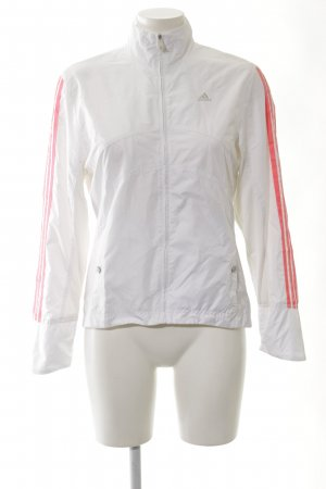 Adidas Blouson weiß-rot Streifenmuster sportlicher Stil