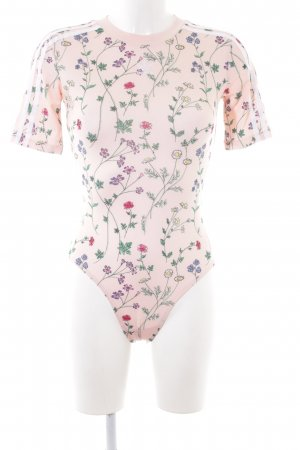 Adidas Bodysuit Blouse floral pattern athletic style