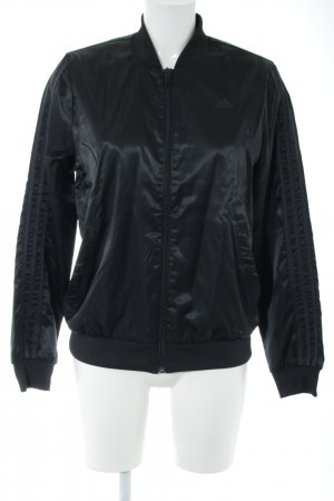Adidas Bomber Jacket black wet-look