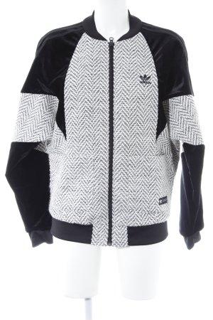 Adidas Bomberjacke schwarz-creme sportlicher Stil