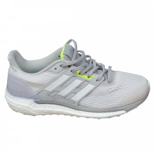 Adidas Boost Sneaker, Weiß, Silbergrau und Neongelb Gr. ca. 40,5