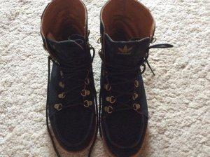 Adidas Stivale da neve blu scuro Scamosciato