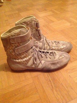 adidas Boots weiss gold Leder Retro
