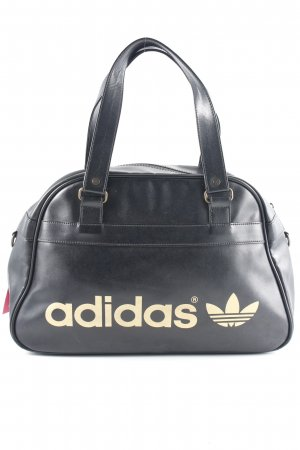 Adidas Borsa da bowling nero-oro caratteri stampati stile atletico