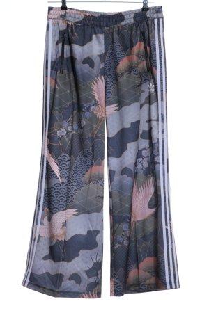 Adidas Pantalone a pieghe motivo astratto stile casual