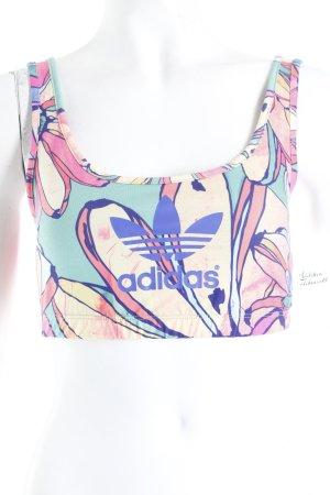 Adidas Bustiertop florales Muster sportlicher Stil