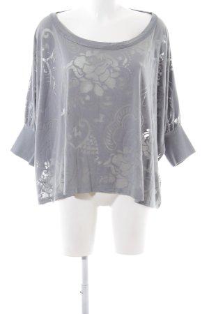 Adidas by Stella McCartney Cropped Shirt hellgrau Blumenmuster Casual-Look