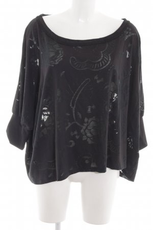 Adidas by Stella McCartney T-shirt court noir motif de fleur style mode des rues
