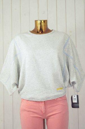 ADIDAS by STELLA MCCARTNEY Damen Sweatshirt Rundhals Oversized Kurzarm Grau S