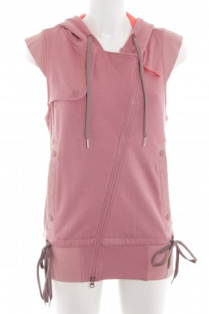Adidas by Stella McCartney Capuchon vest roze-wolwit casual uitstraling