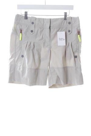 Adidas by Stella McCartney Kurze Hose hellbeige Streifenmuster sportlicher Stil
