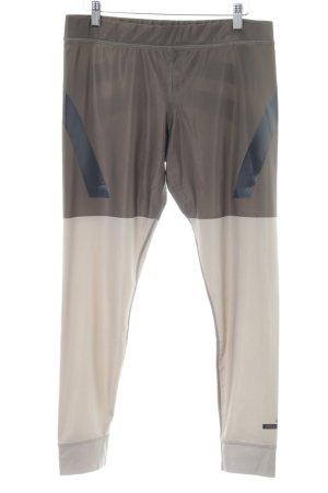 Adidas by Stella McCartney Legging lichtgrijs-wolwit grafisch patroon wetlook