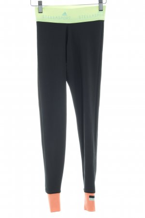 Adidas by Stella McCartney Leggings black-neon yellow athletic style