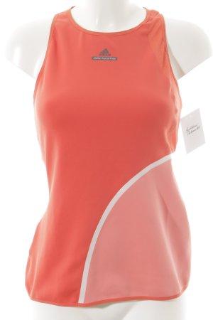 Adidas by Stella McCartney Sporttop donker oranje-roze atletische stijl