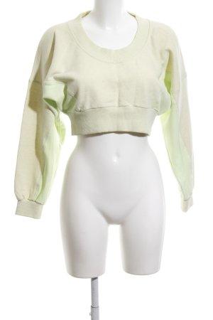 Adidas by Stella McCartney Sweatshirt blassgelb sportlicher Stil