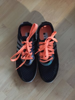 Adidas by Stella McCartney Trainingsschuhe Sneakers schwarz neonorange neu mit Etikett