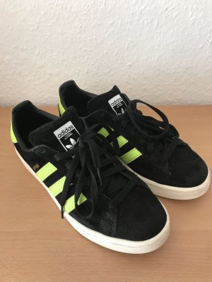Adidas Lace-Up Sneaker black-neon yellow