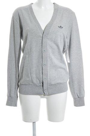 Adidas Cardigan grau-hellgrau sportlicher Stil