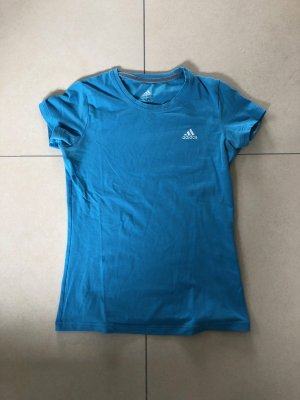 Adidas Sportshirt neon blauw Katoen