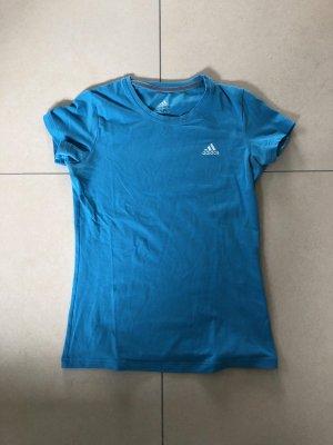 Adidas Camisa deportiva azul neón Algodón