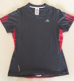 adidas ClimaCool Sport-Shirt in Grau&Pink