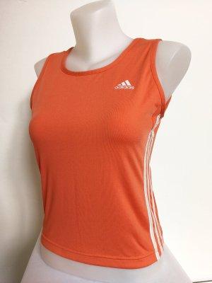Adidas Sporttop oranje-wit