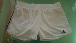 Adidas Climalite Shorts Sporthose Trainingshose Tennishose Weiß M