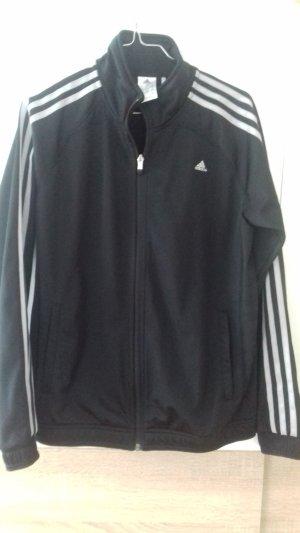 adidas climalite Trainingsjacke schwarz silberne Streifen Gr.M