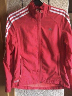 Adidas Giacca sport rosso chiaro-bianco