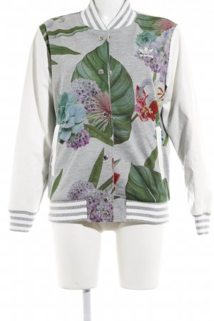 Adidas College Jacket flower pattern casual look