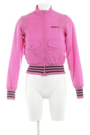 Adidas Collegejacke neonpink sportlicher Stil