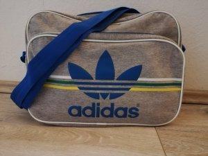 Adidas Collegetasche aus hellgrauem Stoff mit farbigem Design