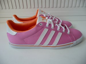 Adidas Lace-Up Sneaker white-pink mixture fibre