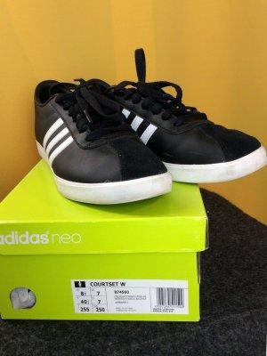 Adidas NEO Basket à lacet noir-blanc