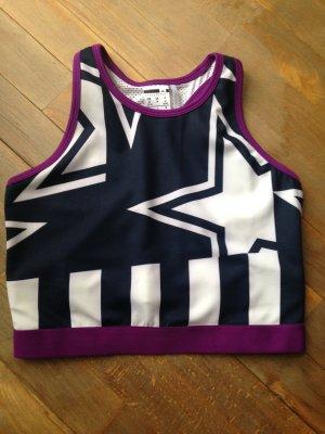 Adidas Sporttop donkerblauw-violet