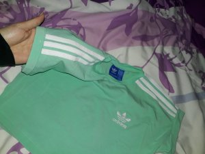 Adidas Cropped shirt turkoois-munt