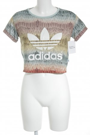 Adidas Cropped Shirt abstrakter Druck Casual-Look