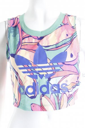 Adidas Cropped Top florales Muster sportlicher Stil