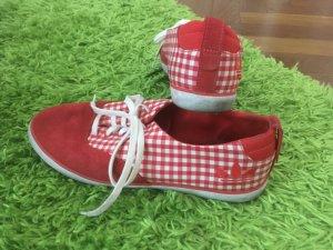 Adidas Basket à lacet rouge-blanc