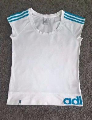 ADIDAS DAMEN T-Shirt, Fitness Polo, Weiß, Größe: 40, 100% Baumwolle