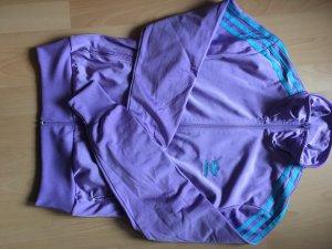 Adidas Damen Trainingsanzug - Sportjacke und -hose lila/blau