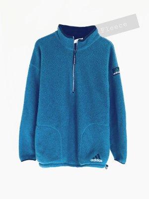 Adidas Equipment pullover Fleece Pulli Pullunder blau Azur matt warm   adidas   oversize unisex
