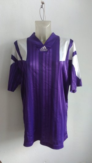 Adidas Equipment Trikot T-Shirt Lila Weiß Vintage Sport