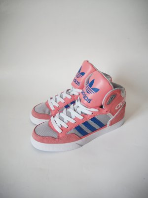 Adidas Extaballs Hightops Turnschuhe Sneakers rosa blau grau Gr. 38