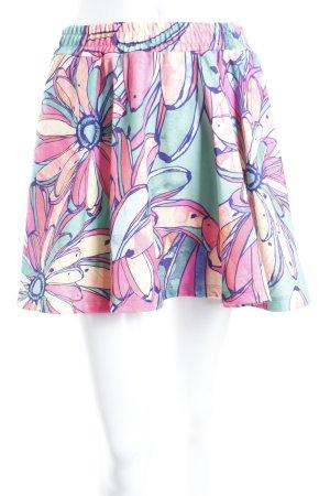 Adidas Faltenrock florales Muster sportlicher Stil