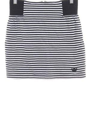 Adidas Plaid Skirt black-white striped pattern casual look